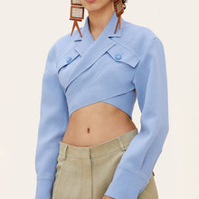 Wrap Cropped Blazer Top