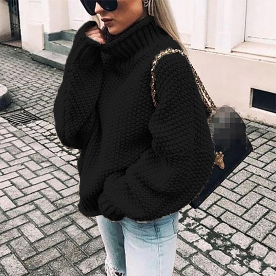 Turtleneck Oversized Fit Sweater