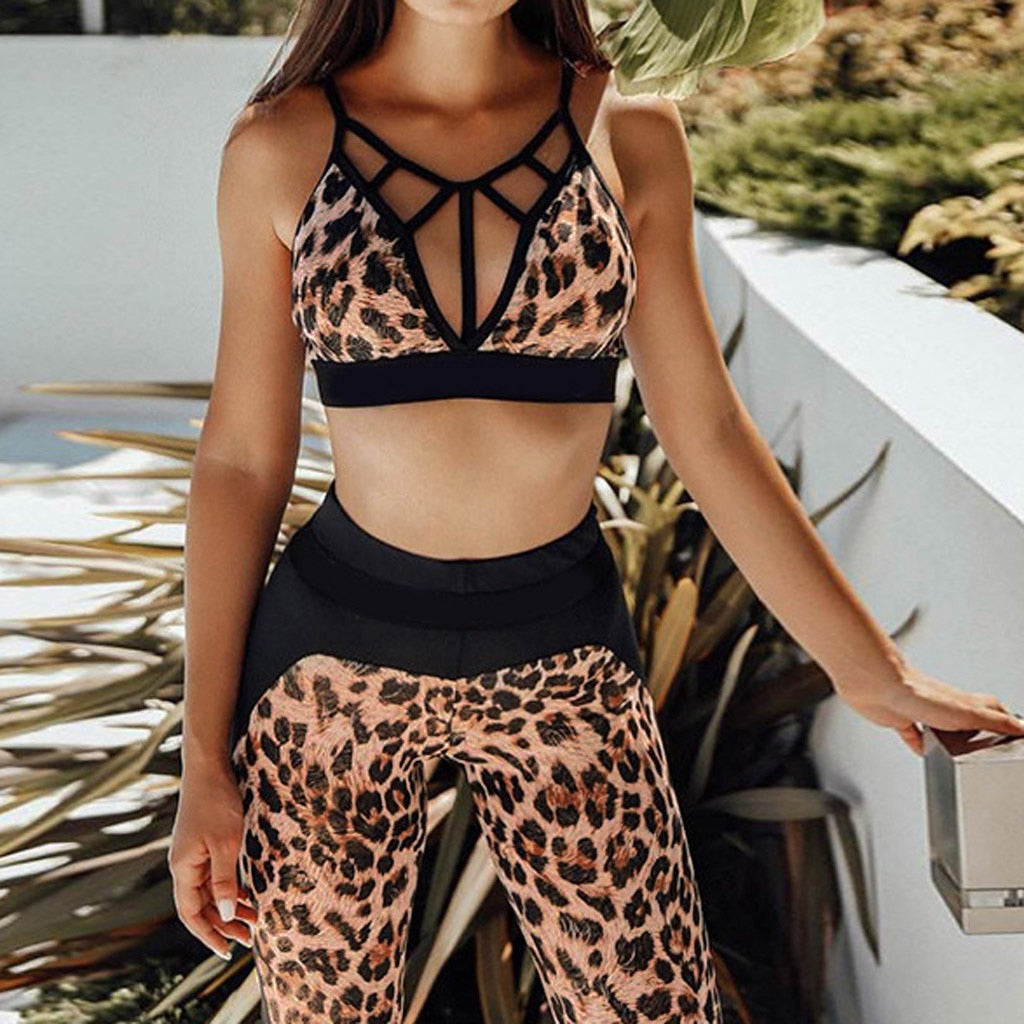 Caged Sports Bra and Matching Leggings Set