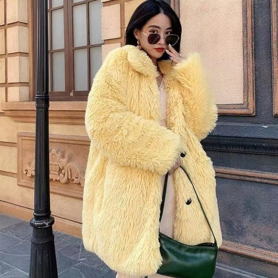Ultra Furry Faux-Fur Coat