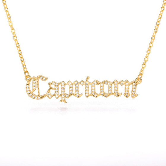 Zodiac Sign Rhinestone Necklace
