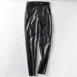 High Waist Paneled Trousers