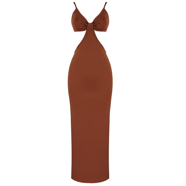Woven Side Cut Out Maxi Dress