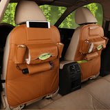 Leather Seat Back Multi-Pocket Storage Bag Organizer Holder Hanger