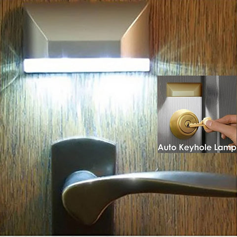 Motion Sensor LED Light for Door Lock, No More Fumbling in the Dark!