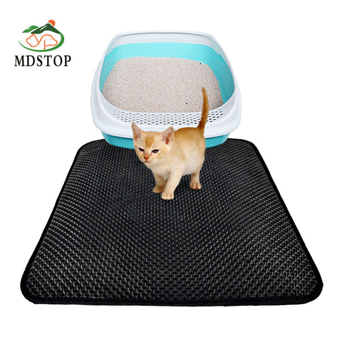 Cat Litter Trapper Mat Folding Waterproof Honeycomb Sifting Pad Protect Floor and Carpet Eco-friendly Light Weight EVA Foam