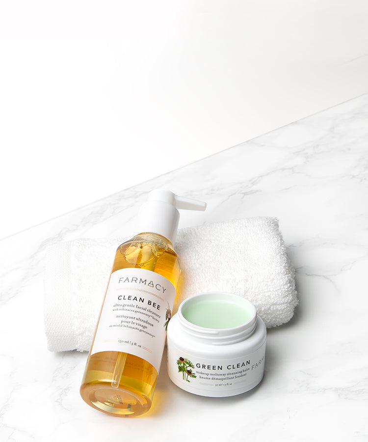 ... Double Cleanse Duo featuring Clean Bee 150 ml and Green Clean 50 ml