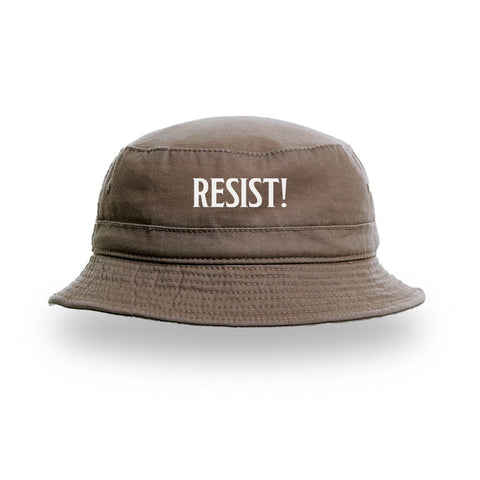 "HOODIE ""RESIST!"" BOTTLE GREEN"