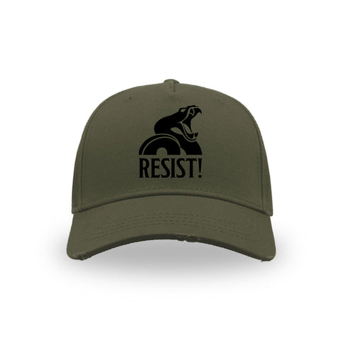 "BASEBALL HAT ""Resist!"" BURGUNDY"