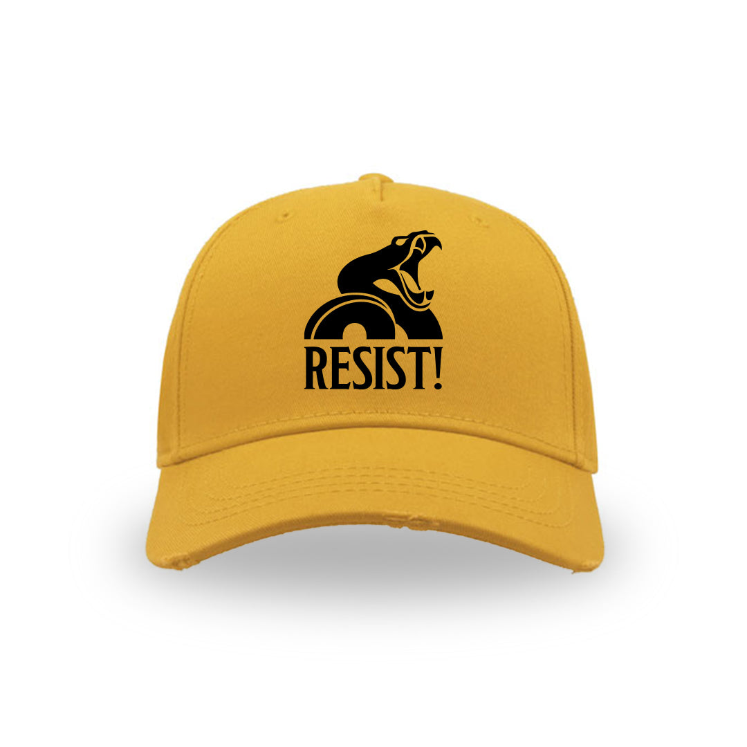 "BASEBALL HAT ""Resist!"" YELLOW"