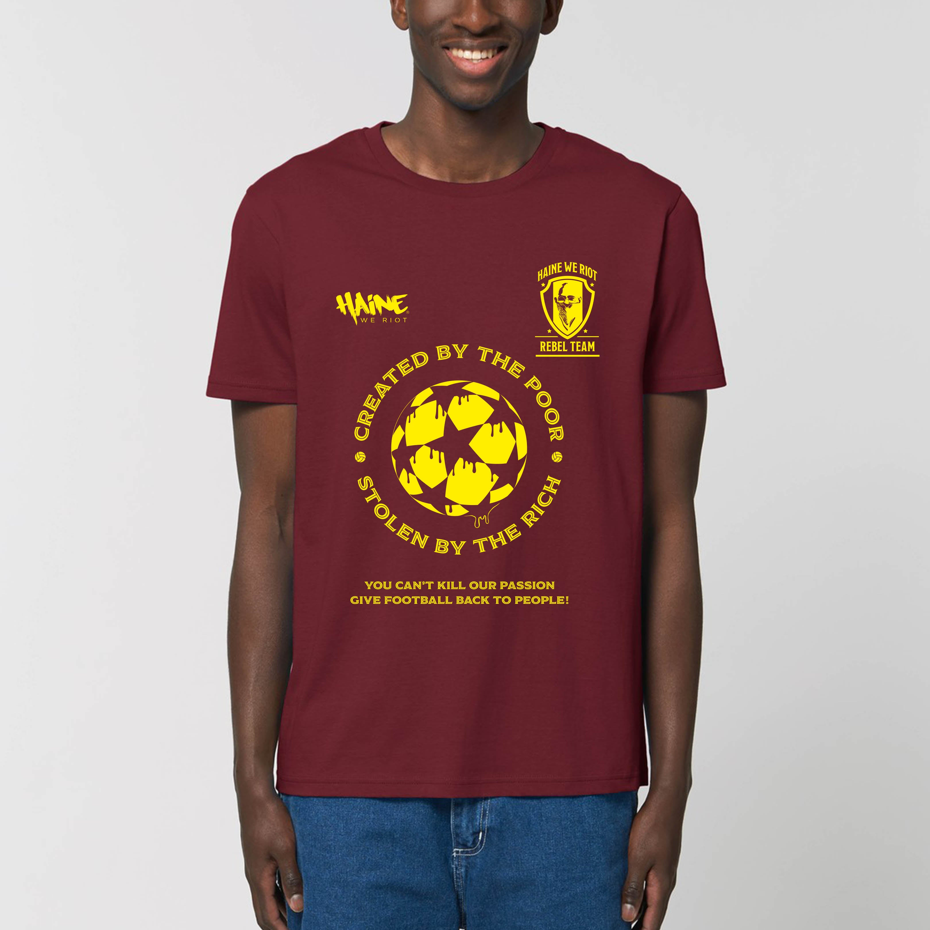 "T-SHIRT ""STOLEN BY THE RICH"" BURGUNDY"