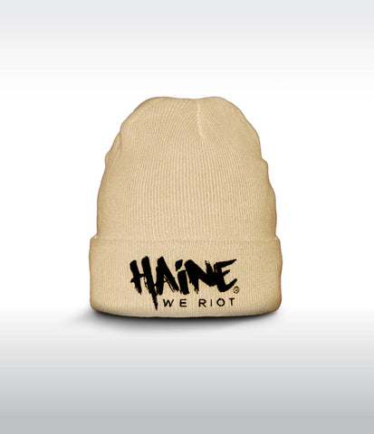 "SHORT BEANIE ""Haine We Riot"" BLACK"