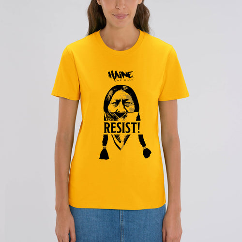 "T-SHIRT ""Sitting Bull Resist!"" YELLOW"