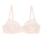 Blush pink Liberté Crosby Demi Bra featuring a Crosby performance micro jersey band.