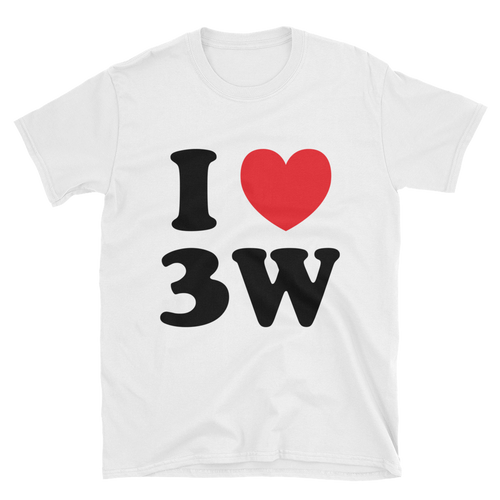 I Love 3W WHITE Short-Sleeve Unisex T-Shirt
