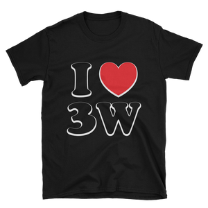 I Love 3W BLACK Short-Sleeve Unisex T-Shirt