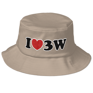 I Love 3W Old School Bucket Hat