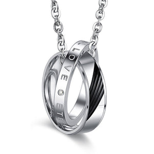 Gagafeel charms necklace pendants men jewelry choker circle gagafeel charms necklace pendants men jewelry choker circle stainless steel love couple for lover valentine gifts mozeypictures