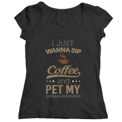 Limited Edition -  I Just Want To Sip Coffee and Pet My...