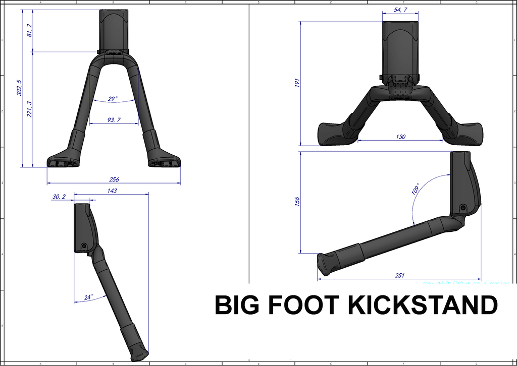 URSUS BIG FOOT DOUBLE LEG KICKSTAND SPECIFICATIONS