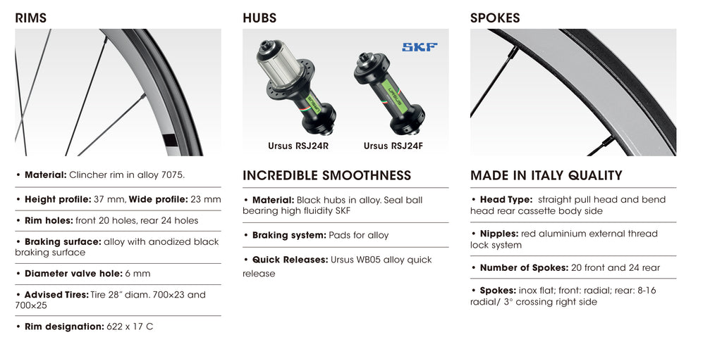 URSUS Blaze Road Wheel Specifications