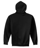 BLACK GILDAN® HEAVY BLEND HOODED SWEATSHIRT. 1850