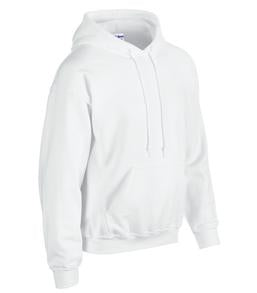 WHITE GILDAN® HEAVY BLEND HOODED SWEATSHIRT. 1850