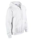 WHITE GILDAN® HEAVY BLEND™ FULL ZIP HOODED SWEATSHIRT. 1860