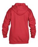 RED GILDAN® HEAVY BLEND™ FULL ZIP HOODED YOUTH SWEATSHIRT. 186B