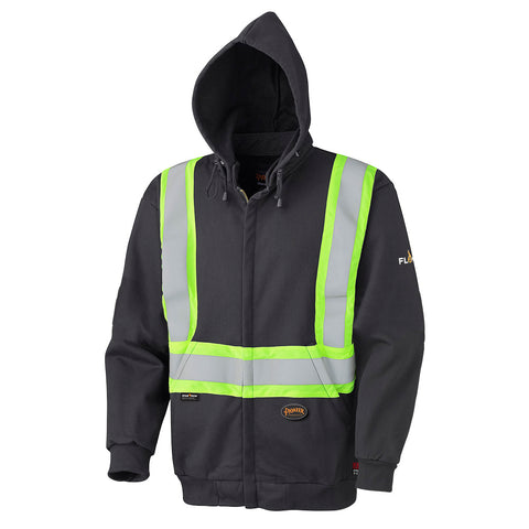Flame Resistant Zip Style Heavyweight Cotton Safety Hoodie  337SF