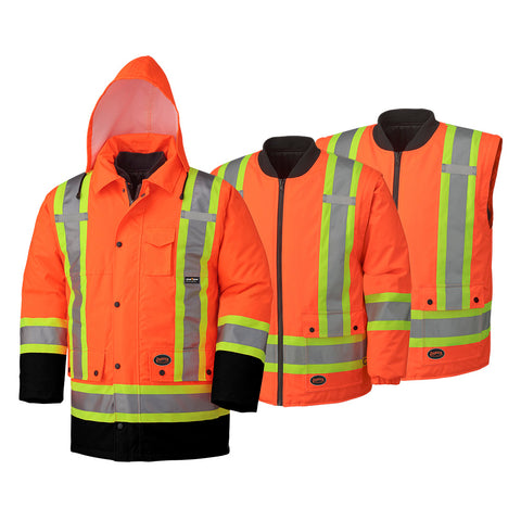 Hi-Viz 6-in-1 Safety Rainwear (300D/450D)  5022BB