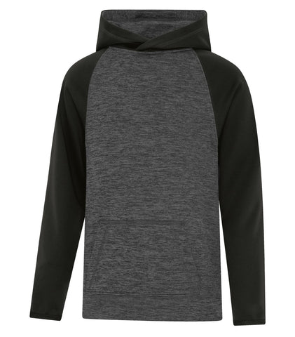 Dynamic Heather Fleece Youth Two Tone Hooded Sweatshirt Y2047
