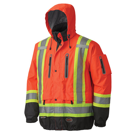 Waterproof/Breathable Premium Hi-Viz Jacket 5200