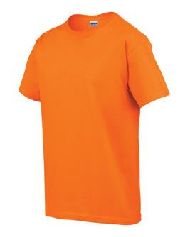 SAFETY ORANGE GILDAN® ULTRA COTTON® YOUTH T-SHIRT. 200B