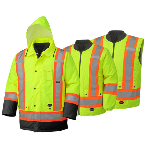 Hi Viz 6-in-1 Safety Rainwear (300D/450D)  5021BB