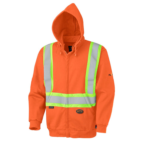 Flame Resistant Zip Style Heavyweight Cotton Safety Hoodie  338SF