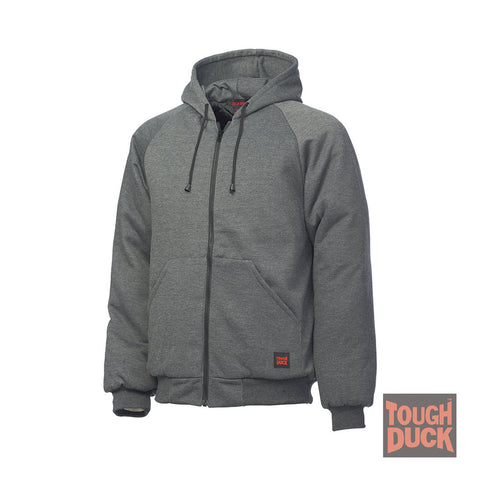 Hooded Jersey Bomber I474Charcoal