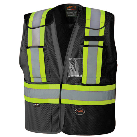 Hi-Viz Safety Tear-Away Vest 6933BK