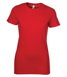 RED BELLA+CANVAS® THE FAVOURITE LADIES' TEE. 6004