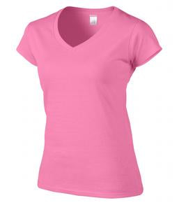 AZALEA GILDAN® SOFTSTYLE® JUNIOR FIT V-NECK LADIES' T-SHIRT. 64V00L