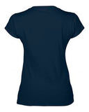 NAVY GILDAN® SOFTSTYLE® JUNIOR FIT V-NECK LADIES' T-SHIRT. 64V00L