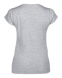 SPORT GREY GILDAN® SOFTSTYLE® JUNIOR FIT V-NECK LADIES' T-SHIRT. 64V00L