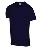 NAVY GILDAN® SOFTSTYLE® V-NECK T-SHIRT. 64V00