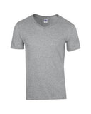 SPORT GREY GILDAN® SOFTSTYLE® V-NECK T-SHIRT. 64V00