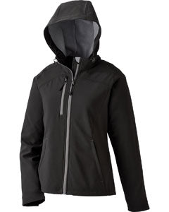 Ash City - North End Ladies' Prospect Two-Layer Fleece Bonded Soft Shell Hooded Jacket 78166