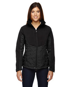 Ash City - Black North End Ladies' Innovate Insulated Hybrid Soft Shell Jacket - 78679