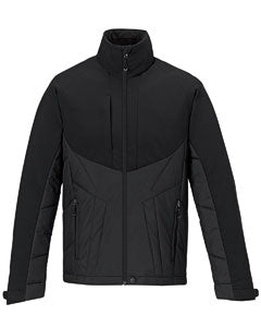 Ash City - Black North End Men's Innovate Insulated Hybrid Soft Shell Jacket - 88679