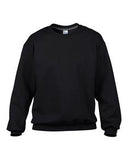 BLACK GILDAN® PREMIUM COTTON RING SPUN FLEECE CREWNECK SWEATSHIRT. 92000