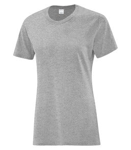 ATHLETIC GREY ATC EVERYDAY COTTON LADIES' TEE. ATC1000L