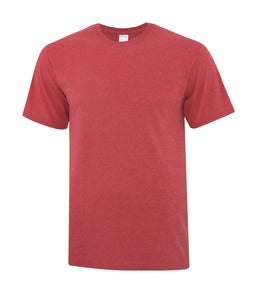 HEATHER RED ATC EVERYDAY COTTON TEE. ATC1000